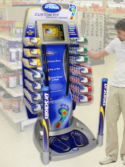 """Don't Be Fooled by the Dr. Scholl's Foot Machine – Buyer Beware"""" A few years ago, Dr. Scholl's orchestrated a huge launch of their foot mapping machine. You have likely seen this unit in Fred Meyer, Walmart and other locations. We have had many patients ask us about the Dr. Scholl's Foot Mapping machine and the """"custom."""