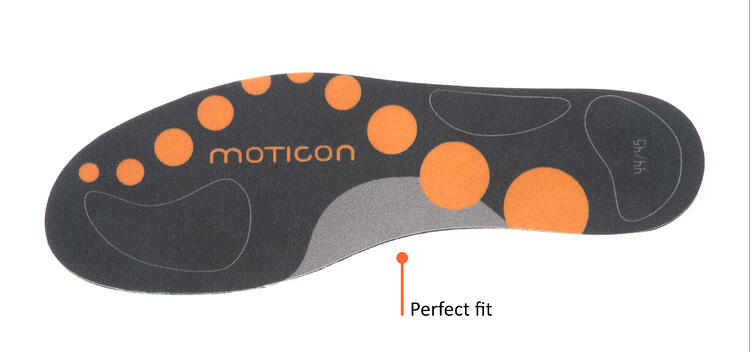 Top view of Moticon OpenGo Insoles