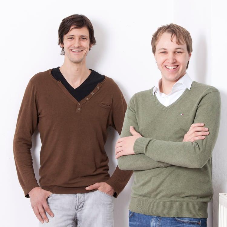 Maximilian Mueller (L) and Robert Vilzmann (R)