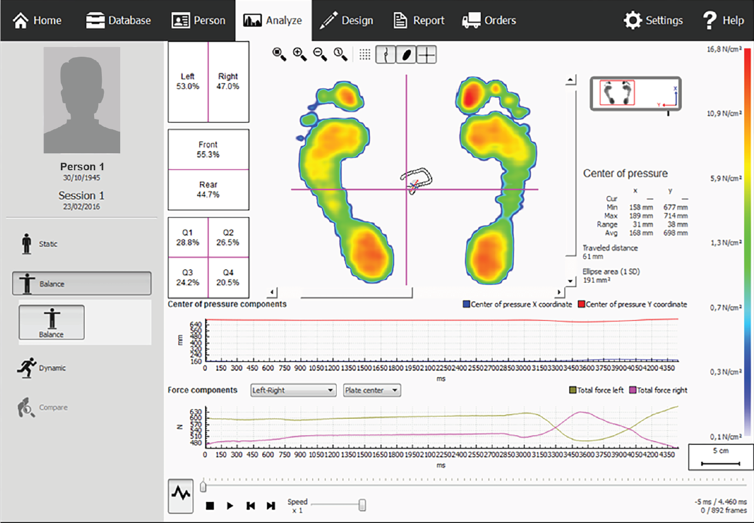 Footscan software v9